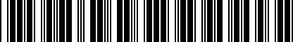 Barcode for 1T0071129